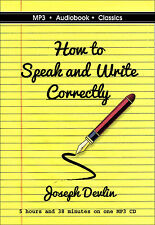 How to Speak and Write Correctly - Unabridged MP3 CD Audiobook in DVD case