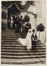 Lecco The wedding day 1920c Original silver photo unmounted Valsecchi S214