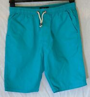 Boys Next Blue Green Drawstring Waist Chino Cotton Board Shorts Age 13 Years