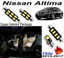 9pcs White LED Interior Light Kit For Nissan Altima 2013-2017 (Inc.Visor Light)