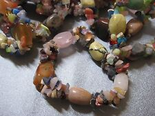 Mixed Stone Beads Stretch Bracelet 1pc