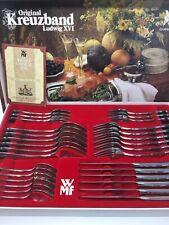 WMF Kreuzband Ludwig XVI Cromargan Besteck 6 Personen 30 Teile Top Zustand.