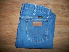 Wrangler Men Jeans 33x34 100% Cotton Denim Blue cowboy 13MWZ