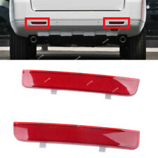 2pcs Red Lens Rear Bumper Reflector LED Stop Brake Light For LAND ROVER LR2