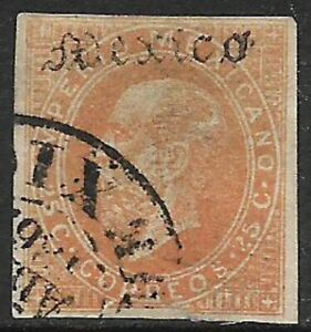 MEXICO -1866, MAXI.- MEXICO, ONLY NAME IN POSITION #10 - USED - N.F. $100.00