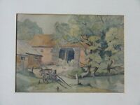 Original watercolour painting East Anglia Landscape Suffolk artist Jack Goddard