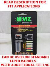 HiViz Hi-Viz Ruger Front Sight Fiber Optic Mark MK 1 2 3 I II III Heavy Tapered
