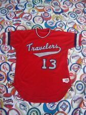 Vintage Little Rock Arkansas Travelers Authentic Baseball Jersey 44 L