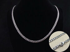 Men's 316L STAINLESS STEEL CURB CHAIN NECKLACE 4.5MM WIDE HIGH QUALITY 55 CMS