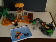 Playmobil lot, Big Pirate Cove Hideout 3938, 3285 with Instructions & extras