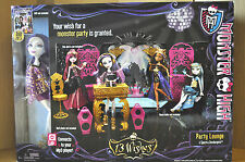 MONSTER HIGH 13 WISHES PARTY LOUNGE PLAYSET inc. SPECTRA DOLL NEW/SEALED