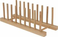 Bamboo Drying Dish Rack ~ Kitchen Plate Holder Drainer ~ Cupboard Organizer