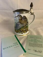 More details for franklin porcelain the woodcock stein by basil ede limited edition 1983 + cert