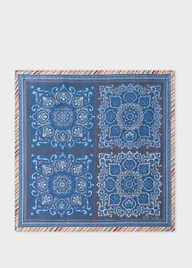 NWT $95 Paul Smith Silk Pocket Square/ Handkerchief, Made in Italy.