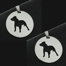 Two pieces American Pitbull Stanfordshire Terrier Pitties Dog Pendant Necklace