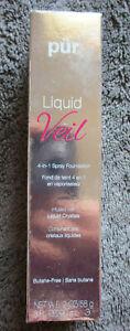 PUR LIQUID VEIL 4-IN-1 SPRAY FOUNDATION DARK 90 ML LIQUID CRYSTALS NEW & BOXED