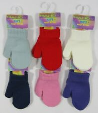 Baby Babies Childrens Kids Magic Gloves Mittens Plain Mits String Fleece NB 24 M