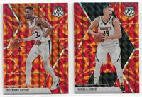 2019-20 Panini Mosaic Basketball REACTIVE ORANGE - Complete Your Set You Pick
