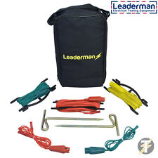 Leaderman LDMESK Earth Spike Kit suitable for Fluke/Megger/Kewtech/Metrel + Case