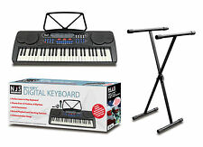 NJS 54 Key Digital Beginner Keyboard Mic Headphones USB With X Frame Stand
