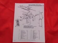 Star Starfire Pistol Mdl D Parts assembly Diagram 1980's catalog print ad
