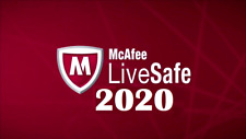 McAfee LiveSafe 2020 One Device 12 Month License New & Existing customers