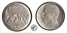 CENTESIMI 50 1925R - BORDO RIGATO - NICHEL - BB+