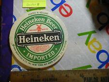 HEINEKEN BIER THUISTAP  BEERCOASTER FROM THE NETHERLANDS Holland Imported
