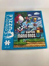 "New Super Mario Bros. U Collector's Puzzle 550 Piece 18"" x 24"" Jigsaw USAopoly"