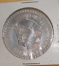1948 Silver Mexico Coin Cuauhtemoc 5 Cinco Pesos Mexican Silver