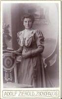 CDV Foto Feine Dame - Zschopau um 1900