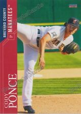 2016 Brevard County Manatees Cody Ponce Rc Rookie Brewers