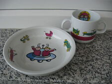 2 PIECES ENFANTS PORCELAINE Marque GUY DEGRENNE MILLENIUM KID