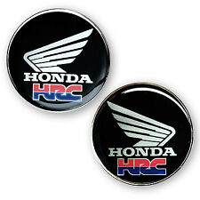 "2.1/8""x2P. HRC HONDA WING RACING CLEAR RESIN COATED ON METALLIC STICKER DECAL"