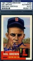 Hal Brown Signed Psa/dna 1953 1991 Topps Archives Autograph Authentic