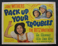 PACK UP YOUR TROUBLES 1939 lobby card set Jane Withers Ritz Brothers WW1 comedy