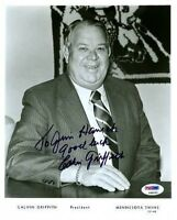 Calvin Griffith Psa/dna Signed 8x10 Photo Autograph Authentic
