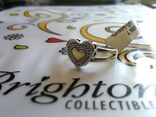 Brighton NWT golden heart 7 sterling silver .925 ring VINTAGE w/ TIN