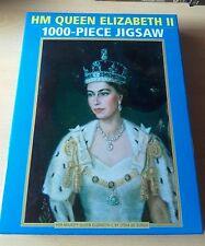 HM Queen Elizabeth II 1000 PIECE JIGSAW by Lydia De Burgh VGC monarchy England