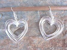 .925 Sterling Silver Overlay Swirl Hearts Earrings by Artesanas Campesinas er008