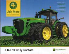 John Deere 7, 8 & 9 Family Tractor Attachments Brochure Leaflet