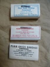 lot 3 bandages pansement US Medical Department infirmier Gi's 1944-1945