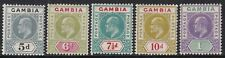 GAMBIA 1904-06 5D TO 1s. FINE MINT, CAT £158