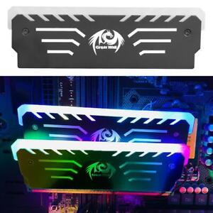 PC Memory RAM Cooler Cooling Vest Heat Sink RGB Light Glow Anodized Aluminum Kit