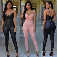 Women Playsuit Sleeveless Long Loose Pants Trousers Jumpsuit Clubwear Romper