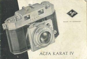 Agfa Karat IV Instruction Manual