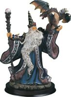 """Blue Wizard with Dragon 10"""" Tall"""