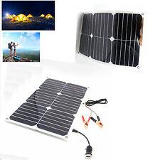 Solar sunpower 20w 12v Panel Ladegerät für Auto Camping iphone Hause DE