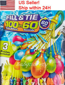 888 Pcs 24 Bunch Self-Sealing O Balloon style Water Balloons self tie,US Seller