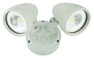 Premium Durable Aluminium LED Outdoor Garage Security Twin Spotlight IP54 2x13W